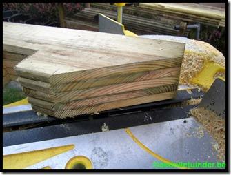 Planken verzaagd
